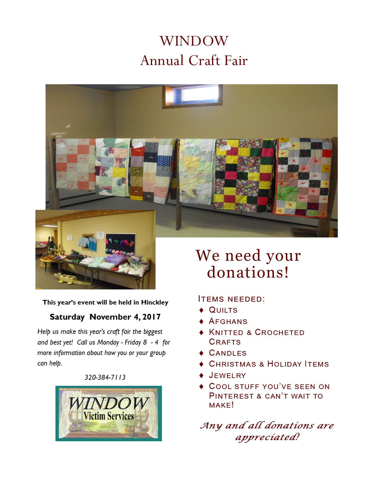 Craft Fair Flyer 2017